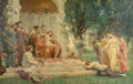 Fine Art - Painting, European:Antique  (Pre 1900), Henrietta Rae (British, 1859-1928). Psyche before the throne ofVenus, 1894. Oil on canvas. 76-1/2 x 120 inches (194.3 x...(Total: 2 Items)