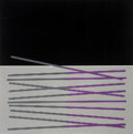 Prints & Multiples, Jesús Rafael Soto (Venezuelan, 1923-2005). Variation En Noir Violet Et Bleu, 1970. Lithograph in colors with embossing. ...
