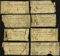 """MO- Lot of 15 A.T. Crane Post Master, """"at the Post Office, St, Louis"""" 1817 Period Scrip Notes"""