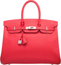 Luxury Accessories:Bags, Hermes 35cm Bougainvillea Epsom Leather Birkin Bag with PalladiumHardware. N Square, 2010. Excellent Condition.1...