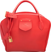 Louis Vuitton Haute Maroquinerie Collection Pink & Green Calfskin Leather Milaris Bag Excellent to Pristine Con