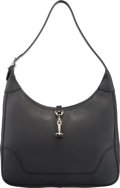 """Luxury Accessories:Bags, Hermes 31cm Black Clemence Leather Trim II Bag with PalladiumHardware. F Square, 2002. Very Good Condition. 12"""" Width x8..."""