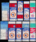 Baseball Collectibles:Tickets, 1966-2012 Baltimore Orioles Ticket Stub Collection (24) Playoff& World Series....