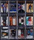 Basketball Cards:Lots, 2005-2010 Basketball Autograph & Relic BGS Graded Collection(12). ...
