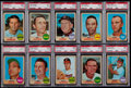 Baseball Cards:Lots, 1968 Topps Baseball PSA Mint 9 Graded Collection (17). ...