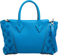 "Louis Vuitton Blue Veau Cachemire Leather & Tuffetage W BB Bag Pristine Condition 12"" Width x 7"""
