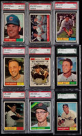 Baseball Cards:Lots, 1961 Topps Baseball Graded Collection (8) - Plus One Extra. ...