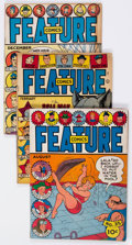 Golden Age (1938-1955):Miscellaneous, Feature Comics Group of 4 (Quality, 1940-46) Condition: Average VG.... (Total: 4 Comic Books)