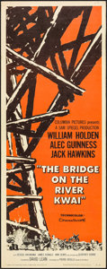 "Movie Posters:War, The Bridge on the River Kwai (Columbia, 1958). Insert (14"" X 36"").War.. ..."