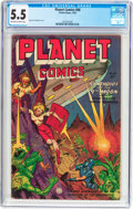 Golden Age (1938-1955):Science Fiction, Planet Comics #68 (Fiction House, 1952) CGC FN- 5.5 Off-white towhite pages....