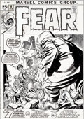 Original Comic Art:Covers, Gil Kane and Frank Giacoia Fear #6 Cover Original Art (Marvel, 1972)....