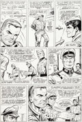"Original Comic Art:Panel Pages, Dick Ayers and John Tartaglione Sgt. Fury Annual #2 ""A Dayof Thunder"" Story Page 10 Original Art (Marvel, 1966)...."