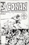 Original Comic Art:Covers, Val Semeiks and Geof Isherwood Conan the Barbarian #207 Cover Original Art (Marvel, 1988)....
