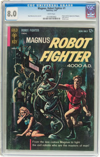 Magnus Robot Fighter #1 (Gold Key, 1963) CGC VF 8.0 White pages