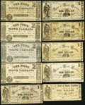Obsoletes By State:North Carolina, NC - Lot of 31 State of North Carolina, Raleigh 1861 Lower Denomination Notes. . ... (Total: 31 notes)