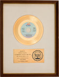 "Music Memorabilia:Awards, Maureen McGovern ""The Morning After"" RIAA White Mat Gold RecordSales Award (20th Century TC-2010, 1973)...."