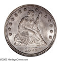 Seated Quarters: , 1875-CC 25C MS63 PCGS. This important Carson City quarter has amintage of 140,000 pieces, most of which were spent in circ...