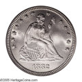 Seated Quarters: , 1882 25C MS66 PCGS. A low total mintage date with only 15,200pieces struck. This is an impressive example that is snow-whi...