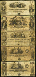 Obsoletes By State:Ohio, OH - Lot of 11 State Bank of Ohio Branch Notes. . ... (Total: 11notes)