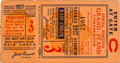 Baseball Collectibles:Tickets, 1927 World Series Game Three Ticket Stub. ...