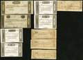 Obsoletes By State:Ohio, OH - Lot of 16 Ohio Early Change Bills. . ... (Total: 16 notes)