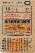 Baseball Collectibles:Tickets, 1928 World Series Game Two Ticket Stub. ...