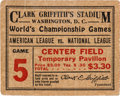 Baseball Collectibles:Tickets, 1925 World Series Ticket Stub. ...