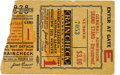 Baseball Collectibles:Tickets, 1928 World Series Game One Ticket Stub. ...