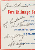 Baseball Collectibles:Others, 1950's Brooklyn Dodgers Greats Signed Parchment with Robinson & Campanella. ...