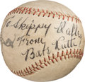 Baseball Collectibles:Bats, Circa 1940 Babe Ruth Single Signed Baseball....