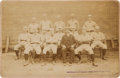 Baseball Collectibles:Photos, Late 1880's New York Giants Team Cabinet Photograph....