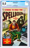 Golden Age (1938-1955):Horror, Spellbound #24 (Atlas, 1955) CGC VF 8.0 White pages....