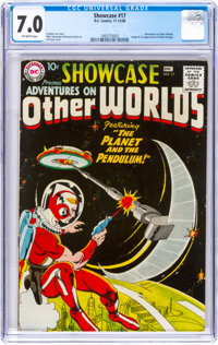 Showcase #17 Adventures on Other Worlds (Adam Strange) (DC, 1958) CGC FN/VF 7.0 Off-white pages