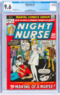 Bronze Age (1970-1979):Romance, Night Nurse #1 (Marvel, 1972) CGC NM+ 9.6 Off-white to white pages....
