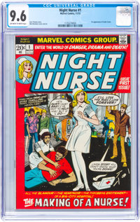 Night Nurse #1 (Marvel, 1972) CGC NM+ 9.6 Off-white to white pages