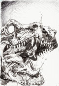Original Comic Art:Covers, John McCrea Hitman #44 Cover and Preliminary Sketch OriginalArt (DC, 1999).... (Total: 2 Original Art)