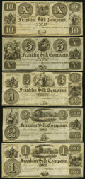 Obsoletes By State:Ohio, OH - Lot of 9 Ohio Engraved Series Remainder Notes. . ... (Total: 9notes)