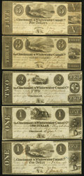 Obsoletes By State:Ohio, OH - Lot of 8 Ohio Banknote Style Company Notes. . ... (Total: 8notes)