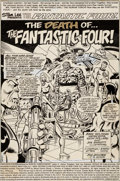 Original Comic Art:Splash Pages, Keith Pollard and Joe Sinnott Fantastic Four #206 SplashPage 1 Original Art (Marvel, 1979)....