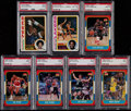Basketball Cards:Lots, 1978 Topps and 1986 Fleer Basketball Stars & HoFers PSA GradedCollection (7)....