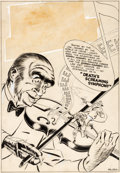 """Original Comic Art:Complete Story, Jerry Robinson and George Roussos Green Hornet Comics #28 Complete 10-page Story """"Death's Screaming Symphony"""" Orig..."""
