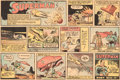 Memorabilia:Comic-Related, Joe Shuster Superman Sunday Comic Strip Tear Sheets Group of 2 dated 10-29-39 and 11-5-39(McClure Syndicate, 1939)... (Total: 2 Items)
