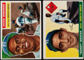 Baseball Cards:Lots, 1955 Topps Sandy Koufax and 1956 Topps Jackie Robinson Pair (2)....
