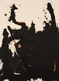 Robert Motherwell (1915-1991) Nemesis, 1981-82 Acrylic on canvas 60 x 44 inches (152.4 x 111.8 cm