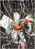 Original Comic Art:Covers, Havoc #6 Cover Painting Deathlok Original Art (Marvel UK,1991)....