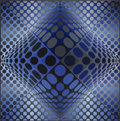 Paintings, Victor Vasarely (1906-1997). Novae - RB, 1972-74. Acrylic on canvas. 59 x 59 inches (150 x 150 cm). Signed lower right: ...
