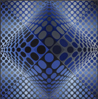 Victor Vasarely (1906-1997) Novae - RB, 1972-74 Acrylic on canvas 59 x 59 inches (150 x 150 cm)