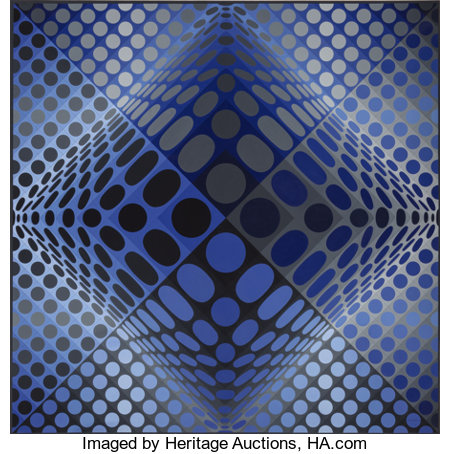 Victor Vasarely (1906-1997)Novae - RB, 1972-74Acrylic on canvas59 x 59 inches (150 x 150 cm)Signed lower right: ...