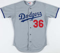 Baseball Collectibles:Uniforms, 1992 Todd Benzinger Game Worn Los Angeles Dodgers Jersey....