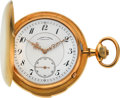 Timepieces:Pocket (post 1900), A. Lange & Söhne Rare & Very Fine Quarter Repeating GoldPocket Watch. ...
